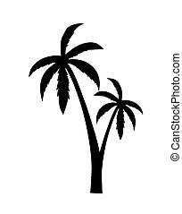 Palm silhouette - vector illustration.