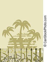 palm, feestdagen, behang