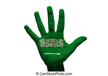 palm flag saudi arabia