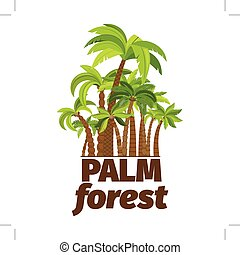 Palm forest logo design