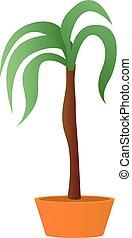 Palm houseplant icon, cartoon style