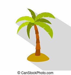 Palm icon, flat style