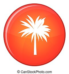 Palm icon, flat style