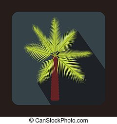 Palm icon in flat style