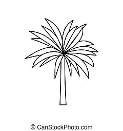 Palm icon, outline style