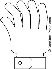 Palm icon, outline style.