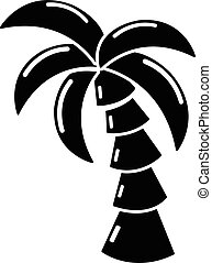 Palm icon, simple black style