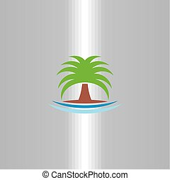 palm icon tree vector symbol logo