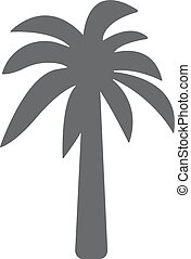 Palm icon. Vector concept illustration for design.