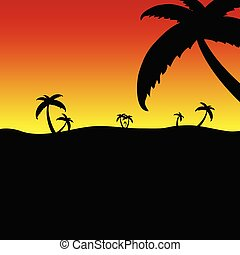 palm in the nature vector