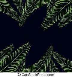 palm leaf background design