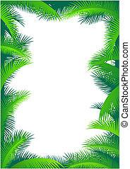 Palm leaf border