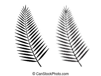 Palm leaf vector icon. Tropical dotwork leaf. Vector - Palm ...
