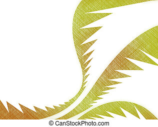 Palm Leaves - A tropical palm leaves illustration that makes...