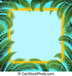 Palm Leaves and Frame