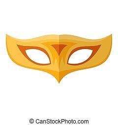 Palm mask icon, flat style