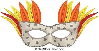 Palm mask mockup, realistic style
