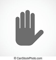 Palm of the human hand, icon. Vector illustration.