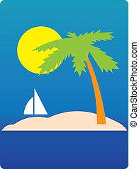 Palm on the island