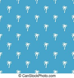 Palm pattern seamless blue