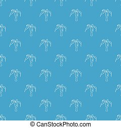 Palm pattern vector seamless blue
