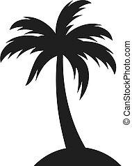 palm, pictogram, vector