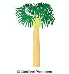 Palm plant tree icon, cartoon style