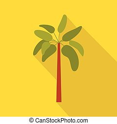 Palm plant tree icon, flat style