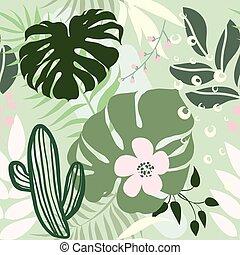 Palm seamless pattern