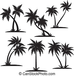Palm silhouette set