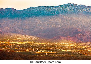 Palm Springs and Mt San Jacinto Mountains CA US