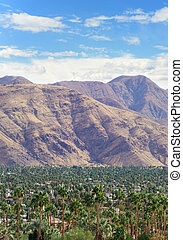 Palm Springs - View on Palm Springs and Coachella Valley...