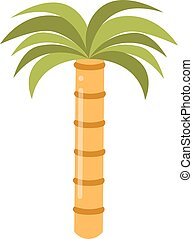 Palm summer tree tropical beach illustration.