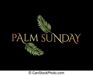Palm Sunday Christian Holiday Theme Illustration