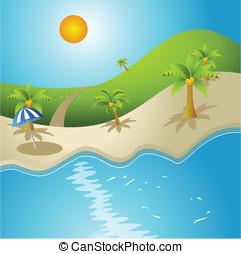 summer - Palm, sun,sea and summer