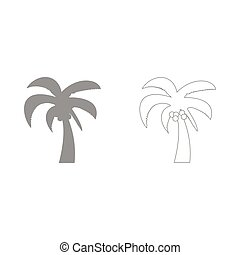 Palm the grey set icon .
