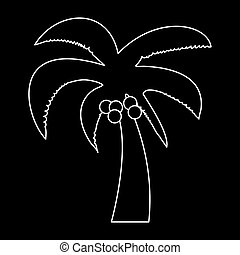 Palm the white path icon .