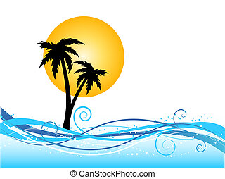 palm tree background - Palm tree background