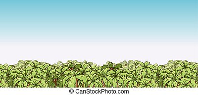 Palm tree background vector illustration
