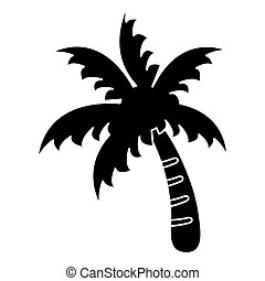palm tree beach symbol pictogram