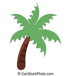palm tree beach symbol