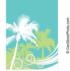 Palm tree wave background