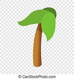 Palm tree icon, cartoon style