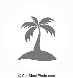Palm tree icon. Vector illustration