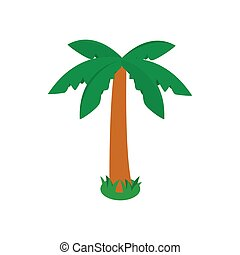 Palm tree icon, isometric 3d style