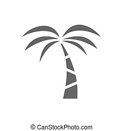 Palm tree icon on a white background