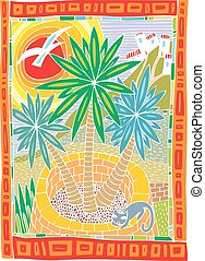 palm tree illustration