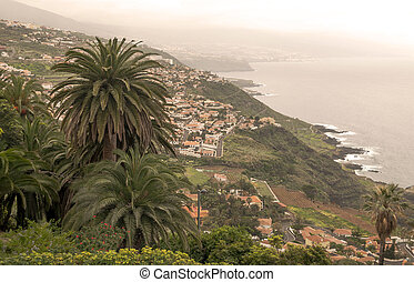 Tenerife in a cloudy day