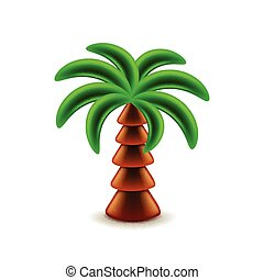 Palm tree isolated on white vector