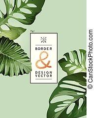 Palm Tree Leaf Layout Frame Design